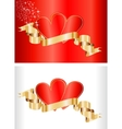 Valentine concept - cards with ribbon vector