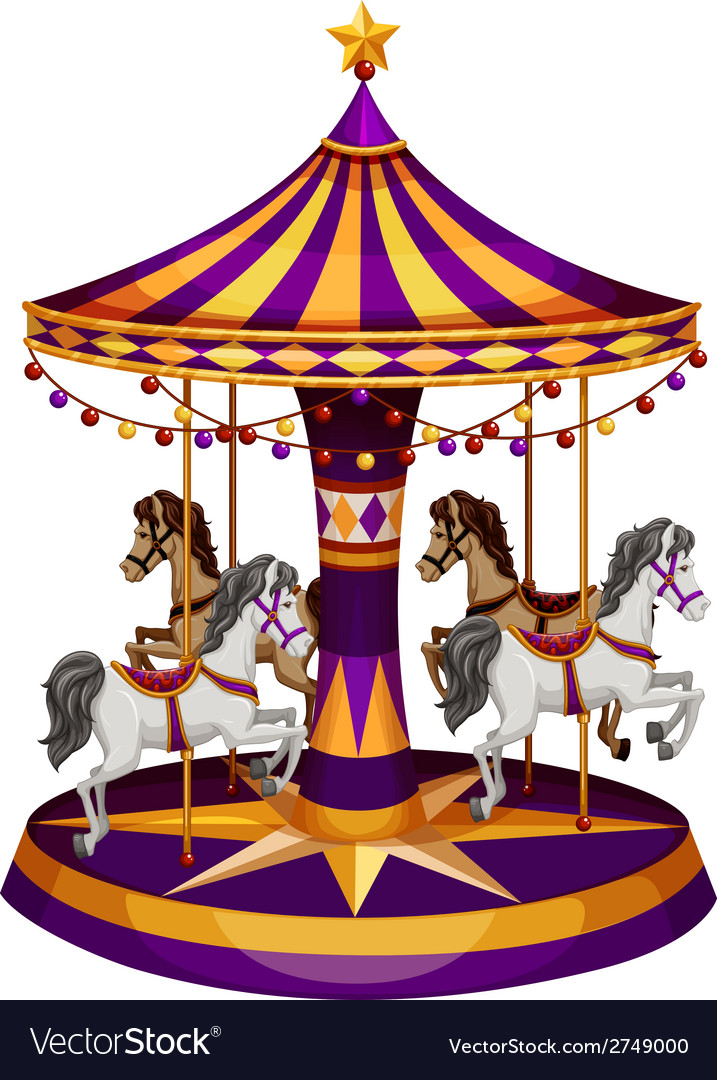 A carrousel ride vector | Price: 1 Credit (USD $1)