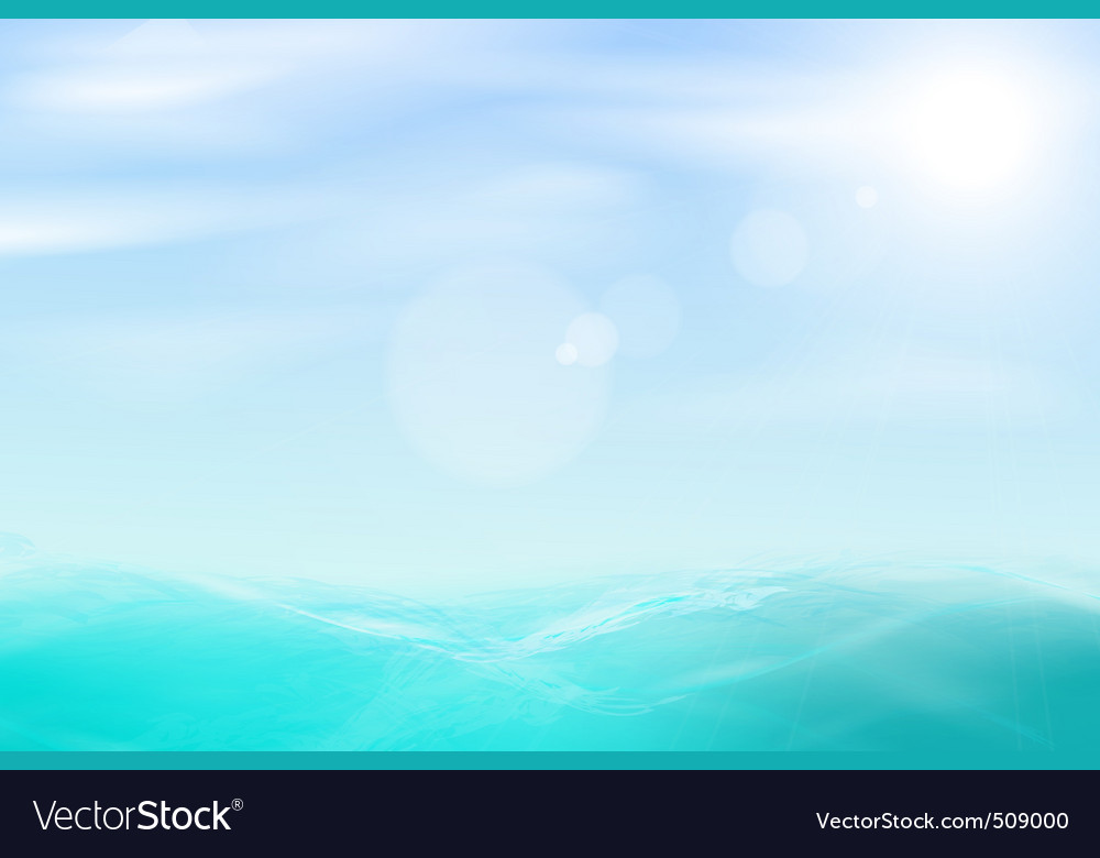 Abstract sea and sky background vector | Price: 1 Credit (USD $1)