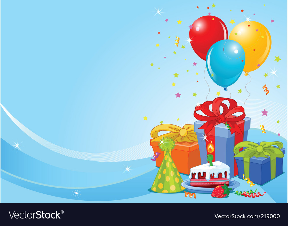 Birthday party background vector | Price: 3 Credit (USD $3)