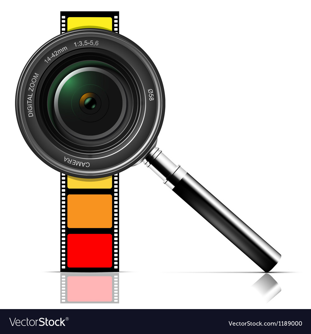 Camera lens and film vector | Price: 3 Credit (USD $3)