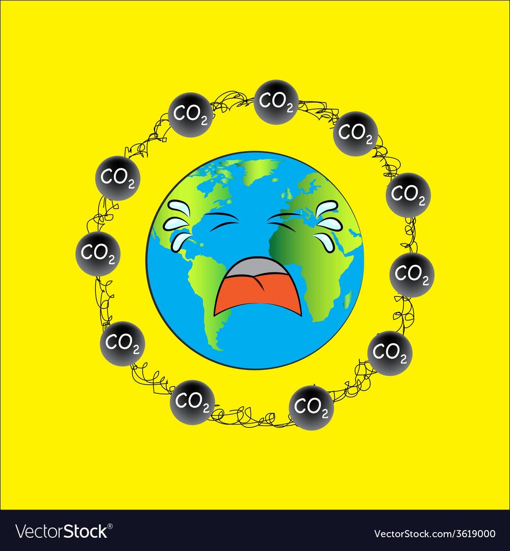 Carbon dioxide vector | Price: 1 Credit (USD $1)