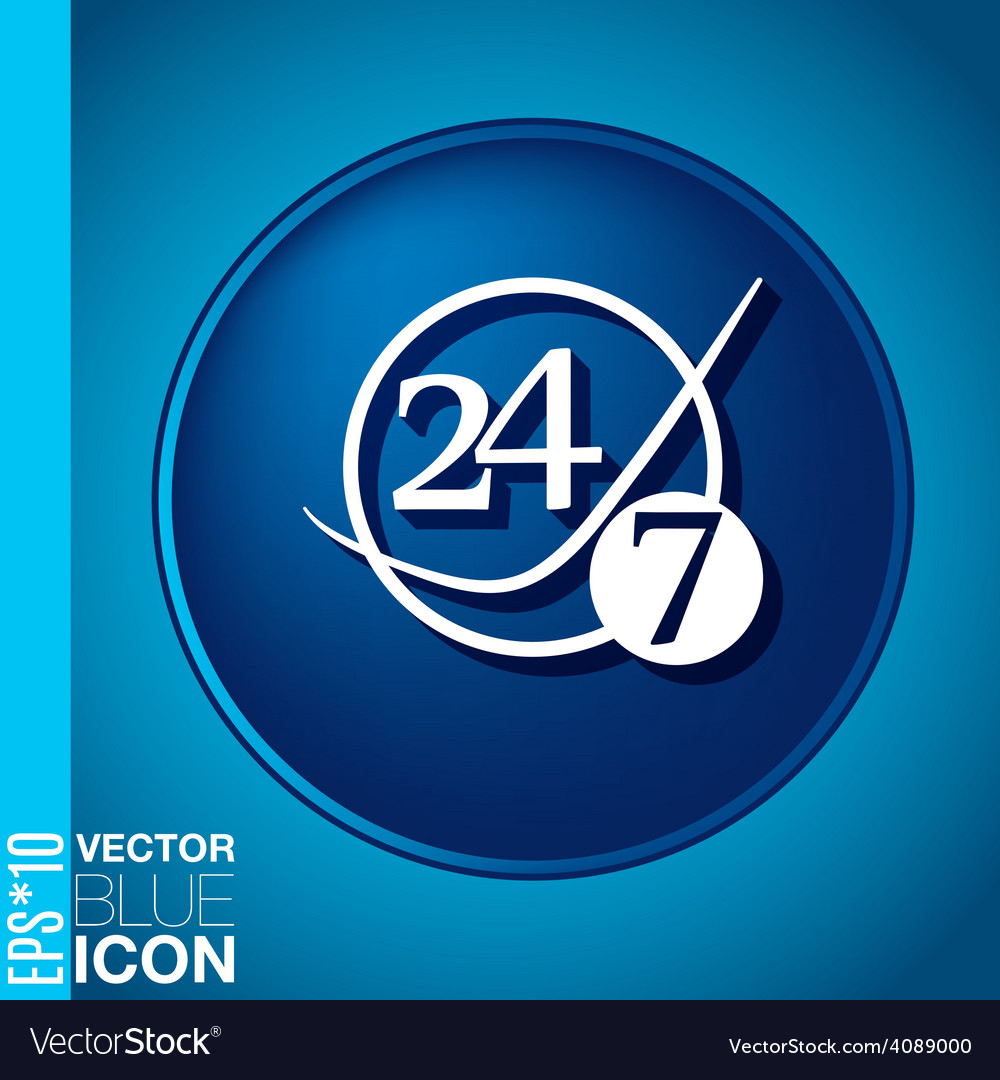 Character 24 7 vector   Price: 1 Credit (USD $1)