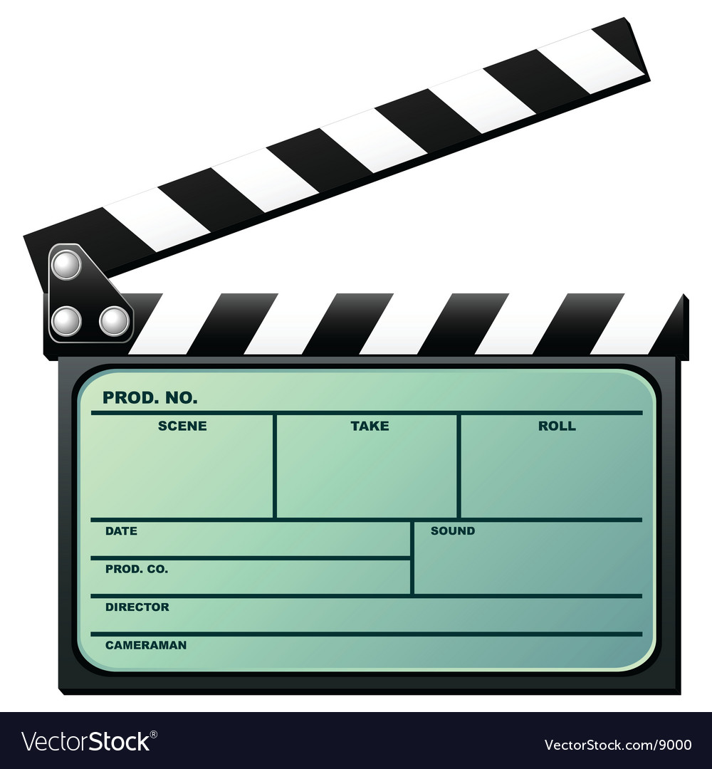 Clapboard with lcd vector | Price: 1 Credit (USD $1)