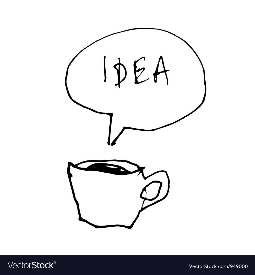Coffee cup idea vector | Price: 1 Credit (USD $1)