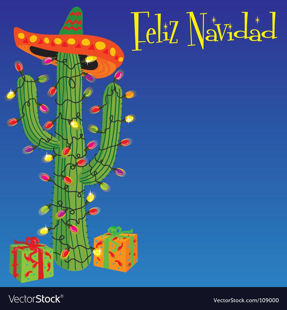 Felid naiad christmas cactus vector
