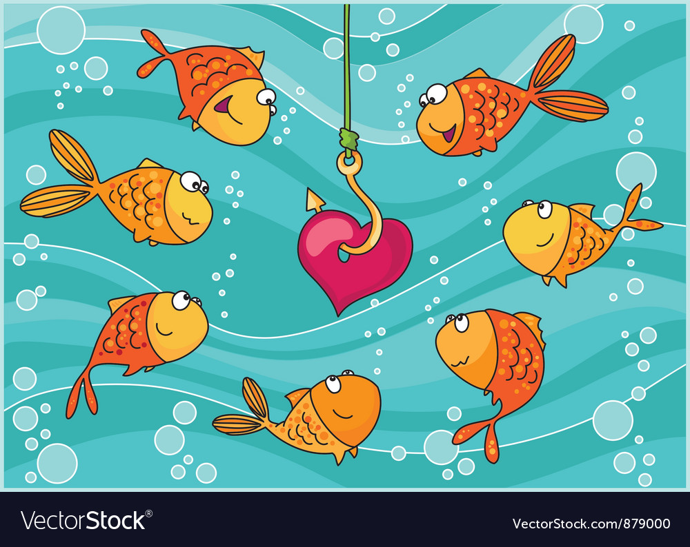 Fish and heart vector | Price: 3 Credit (USD $3)