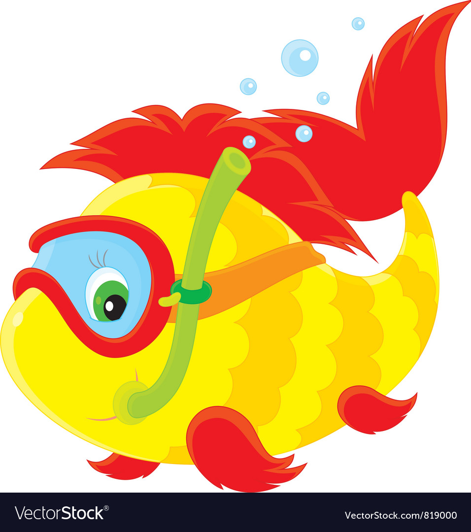 Fish diver vector | Price: 3 Credit (USD $3)