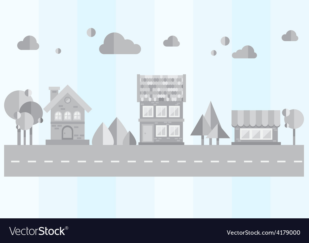 Gray city on a blue background vector | Price: 1 Credit (USD $1)