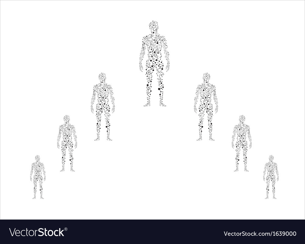 Human body in molecular vector | Price: 1 Credit (USD $1)