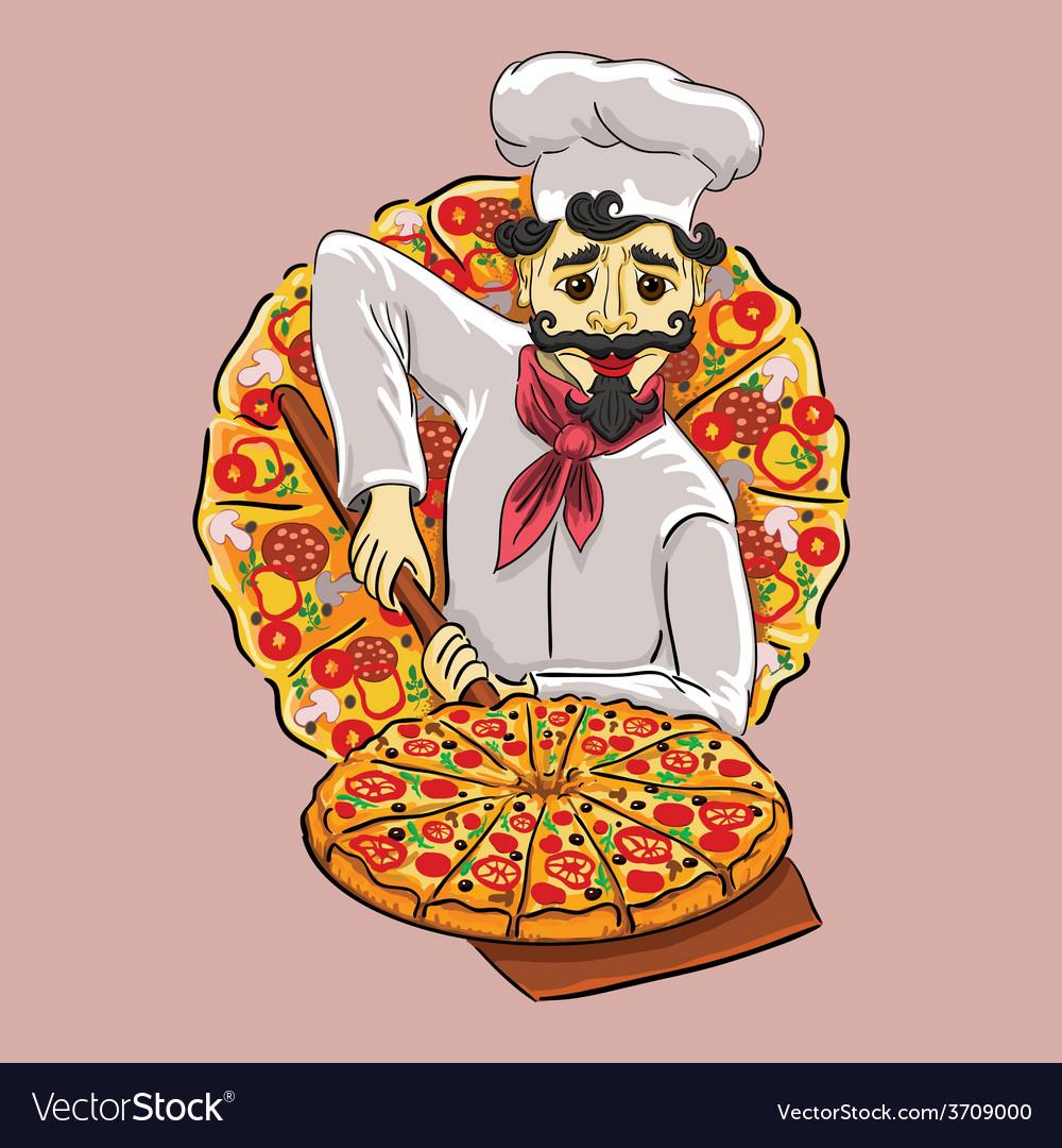 Italian cook vector | Price: 3 Credit (USD $3)