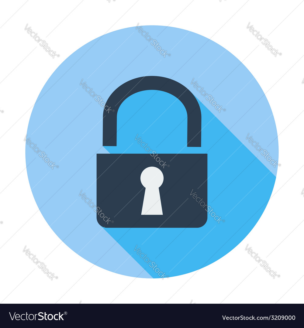 Lock single icon vector | Price: 1 Credit (USD $1)