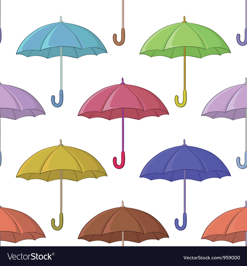Umbrella seamless background vector | Price: 1 Credit (USD $1)