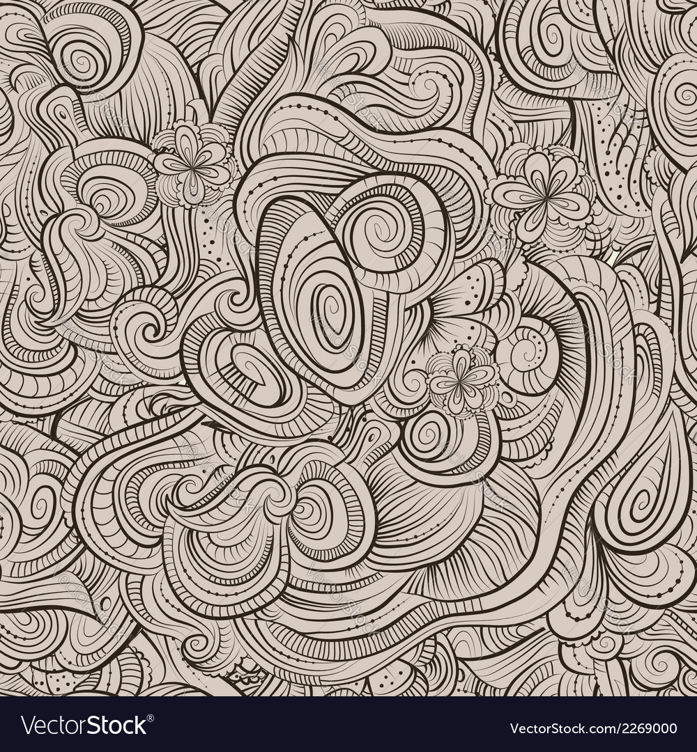 Vintage ornamental seamless pattern vector | Price: 1 Credit (USD $1)