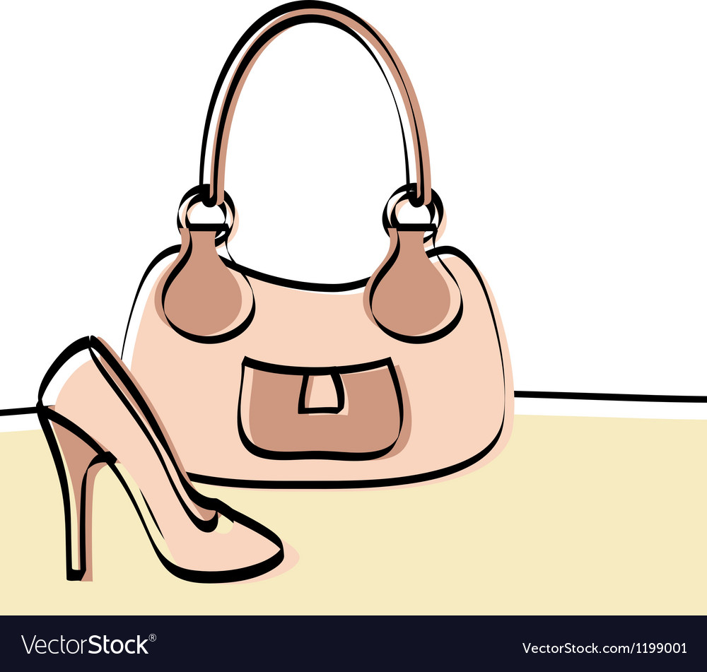 Abstract handbag and woman shoe vector | Price: 1 Credit (USD $1)