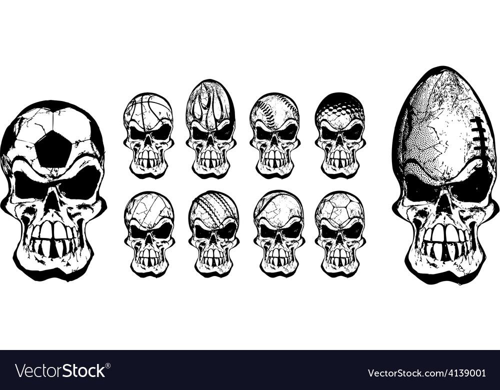 Ball skulls vector   Price: 1 Credit (USD $1)
