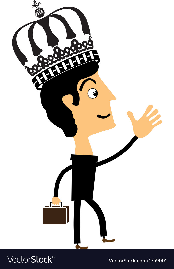 Businessman standing in the crown vector | Price: 1 Credit (USD $1)