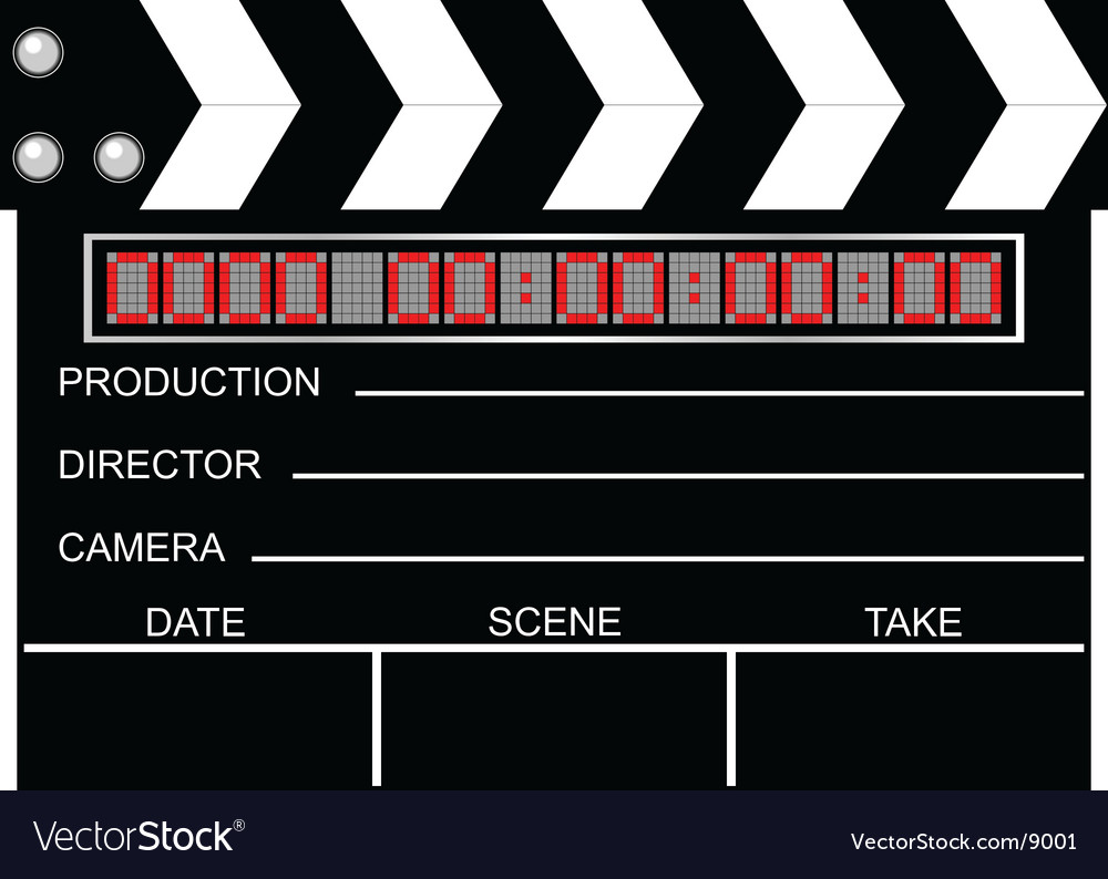 Digital closed clapboard vector | Price: 1 Credit (USD $1)