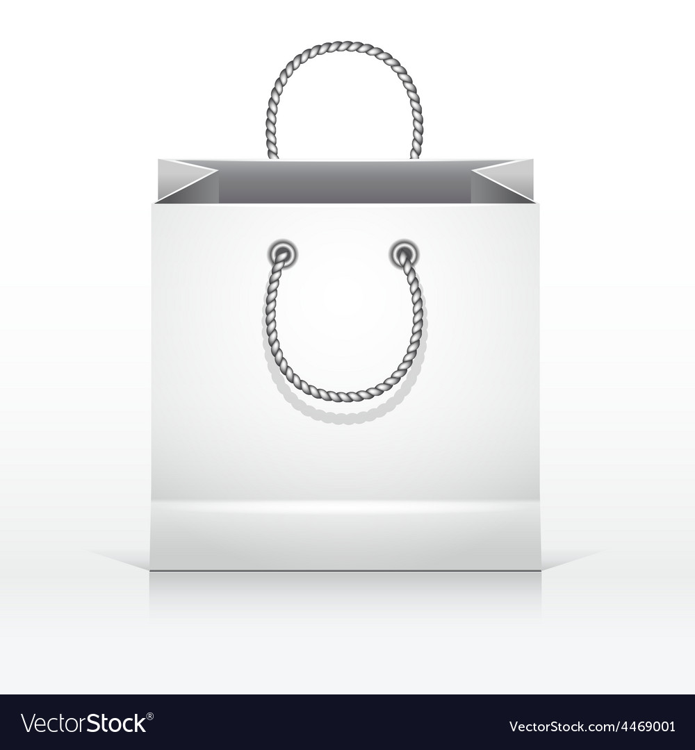Gray paper shopping bag vector | Price: 3 Credit (USD $3)