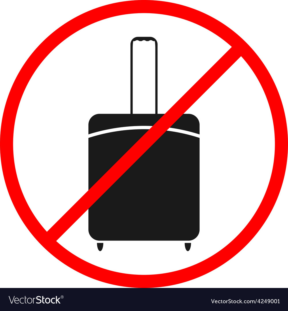 Icon ban luggage vector | Price: 1 Credit (USD $1)