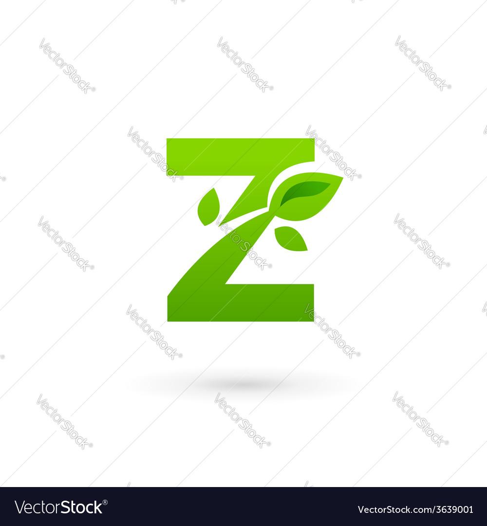 Letter z eco leaves logo icon design template vector | Price: 1 Credit (USD $1)