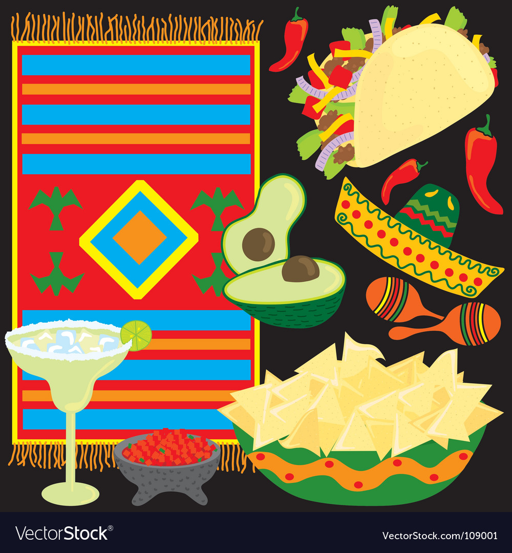Mexican fiesta party vector | Price: 3 Credit (USD $3)