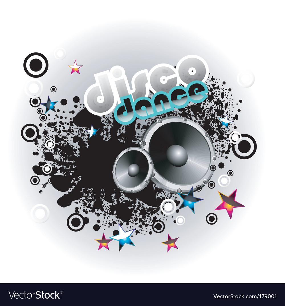 Music disco background vector | Price: 3 Credit (USD $3)