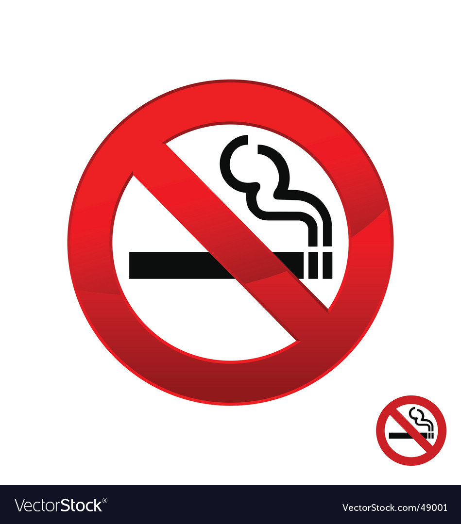 No smoking vector | Price: 1 Credit (USD $1)