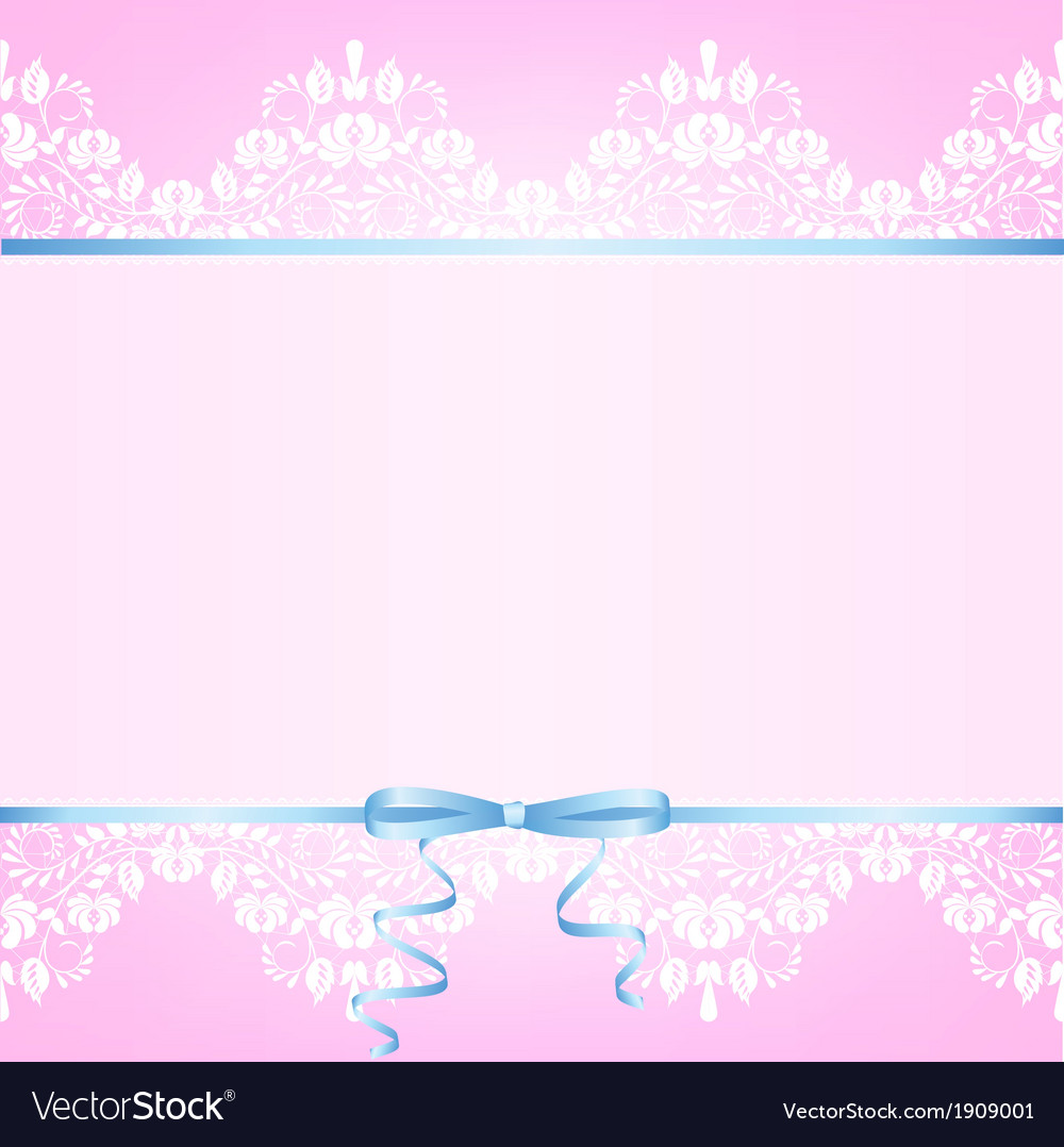 Pink background with white lace vector | Price: 1 Credit (USD $1)