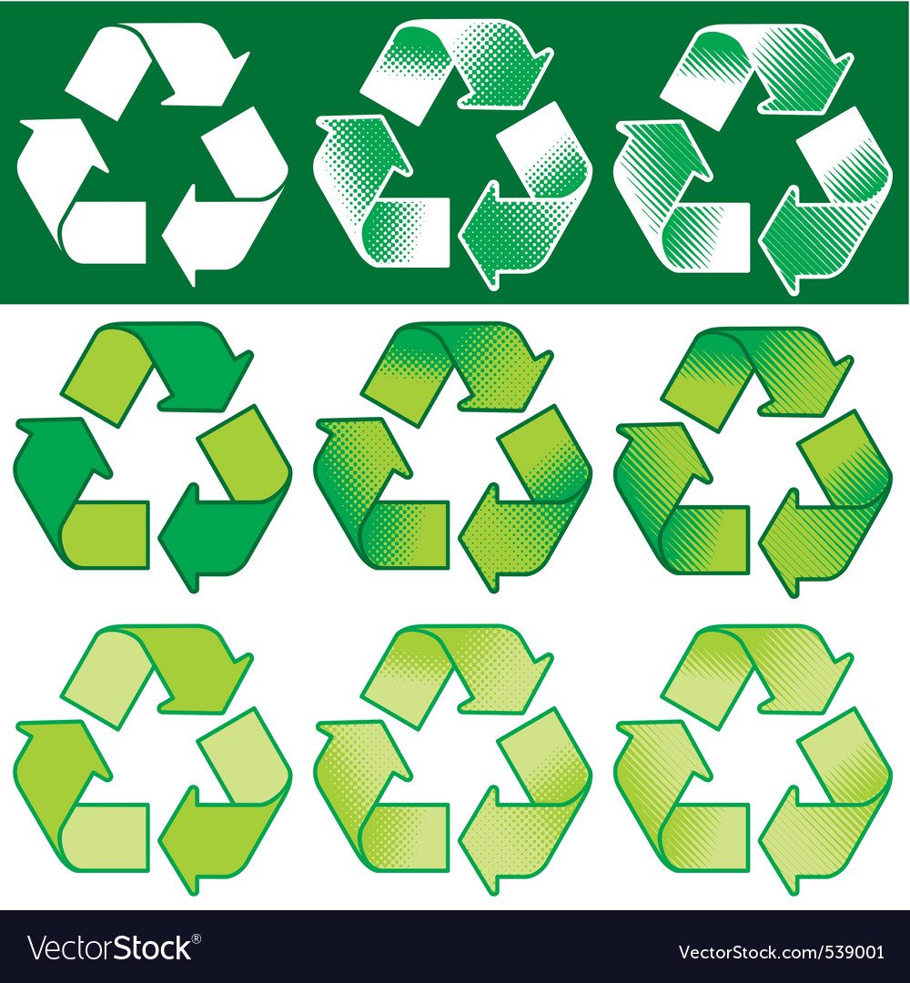 Recycling symbol vector | Price: 1 Credit (USD $1)