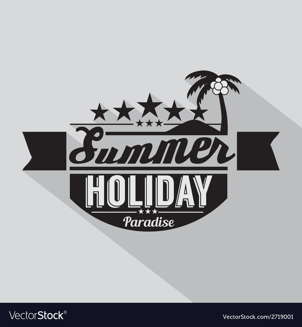 Summer design badge vector | Price: 1 Credit (USD $1)