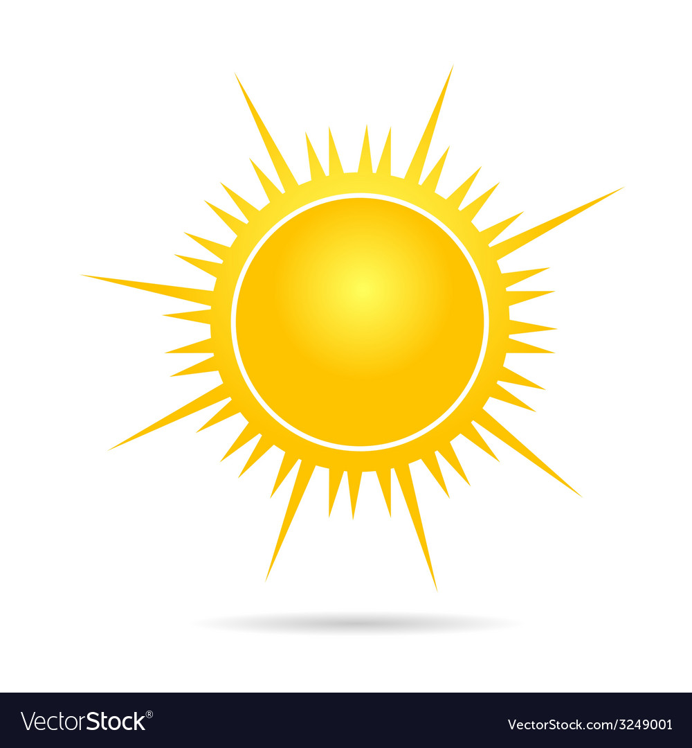 Sun in yellow part one vector | Price: 1 Credit (USD $1)