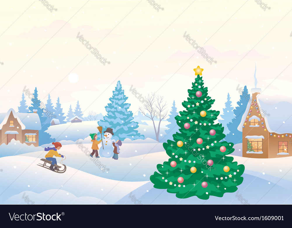 Winter fun vector | Price: 3 Credit (USD $3)