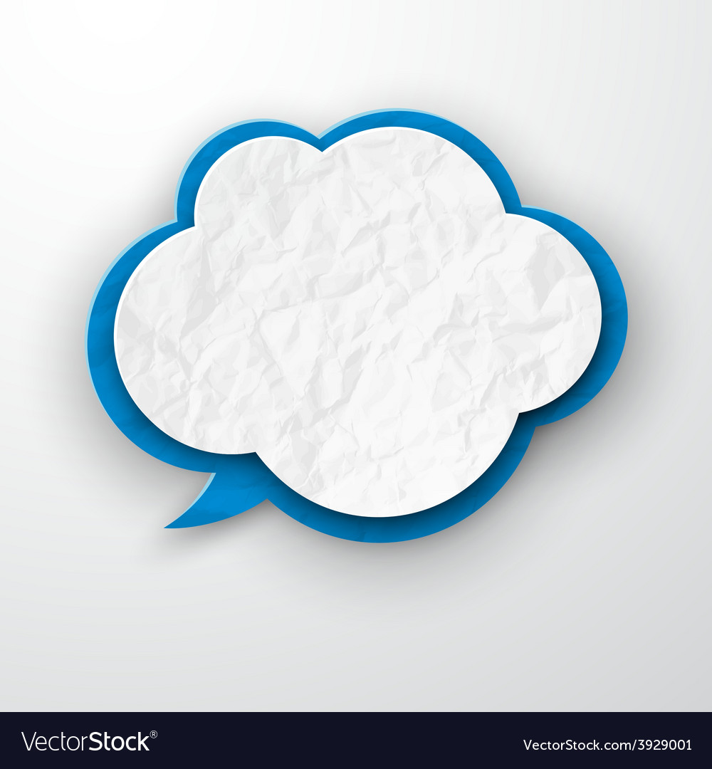 Wrinkled old paper cloud vector | Price: 1 Credit (USD $1)