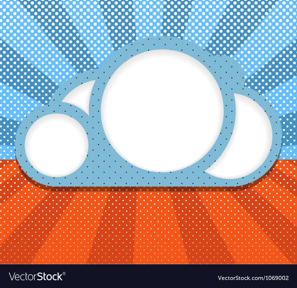 Abstract cloud vector | Price: 1 Credit (USD $1)