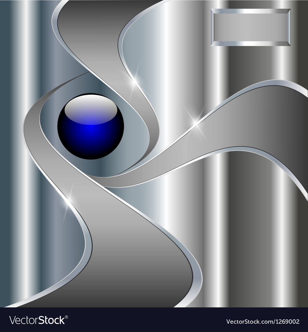 Abstract technology metallic background with blue vector | Price: 1 Credit (USD $1)
