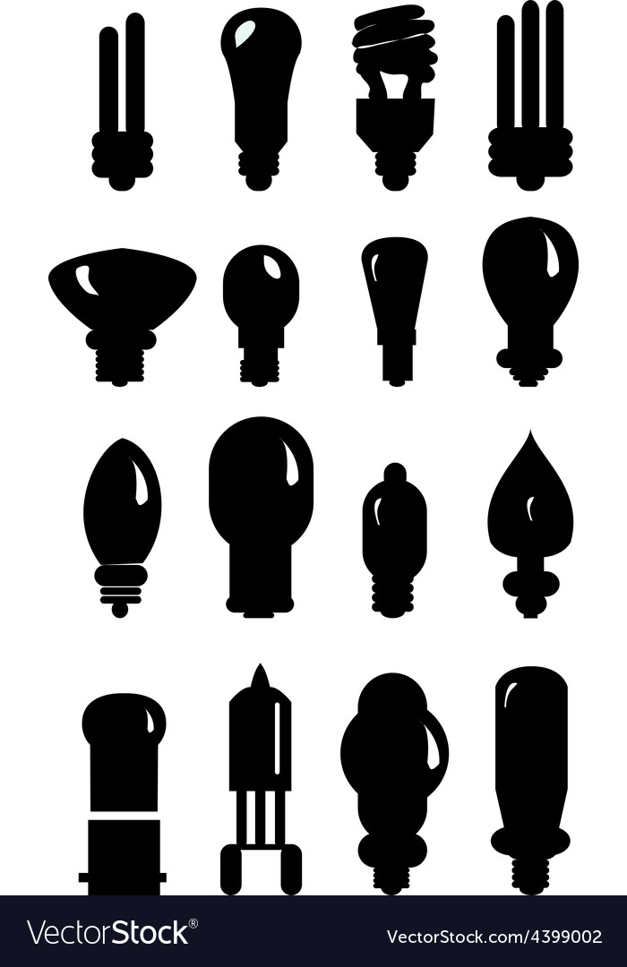 Bulb icons set vector | Price: 3 Credit (USD $3)