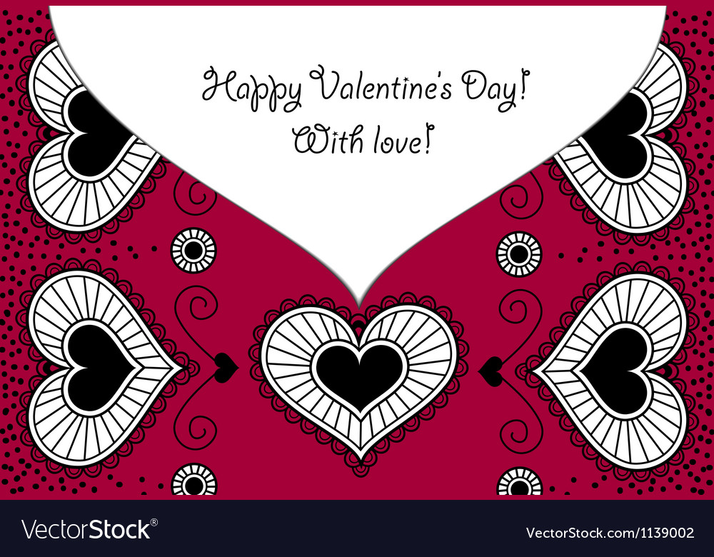 Card happy valentines day vector