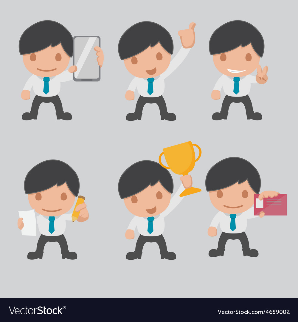 Character business worker cartoon set vector   Price: 1 Credit (USD $1)