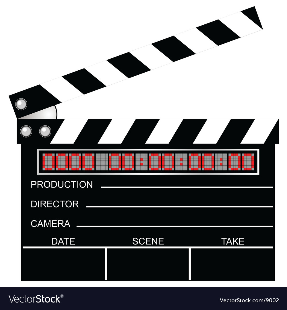 Digital clapboard vector | Price: 1 Credit (USD $1)