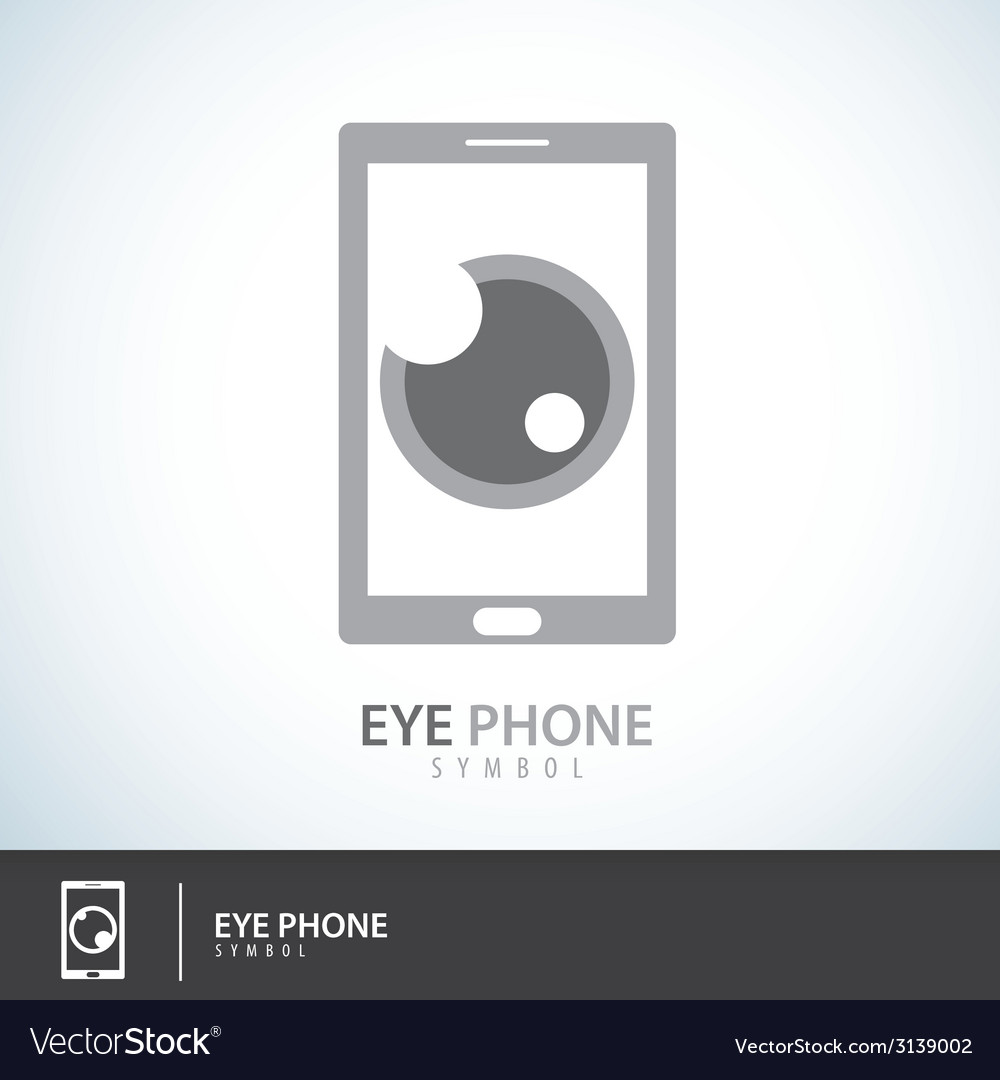 Eye phone symbol icon vector | Price: 1 Credit (USD $1)