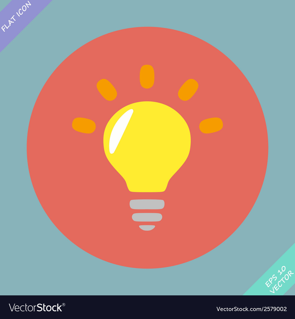 Light lamp sign icon idea symbol - vector | Price: 1 Credit (USD $1)