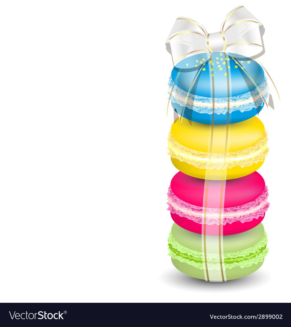 Macaroons and ribbon vector | Price: 1 Credit (USD $1)