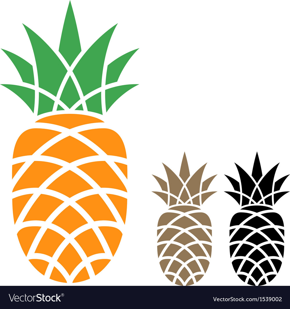 Pineapple vector | Price: 1 Credit (USD $1)