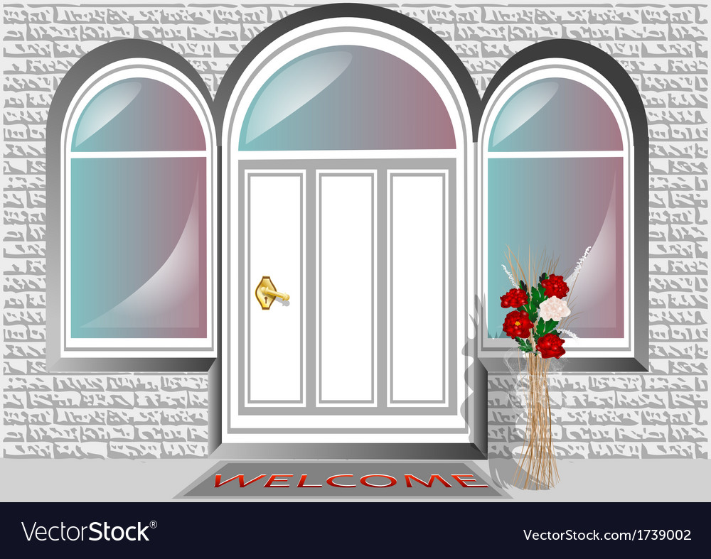 Porch door vector | Price: 1 Credit (USD $1)