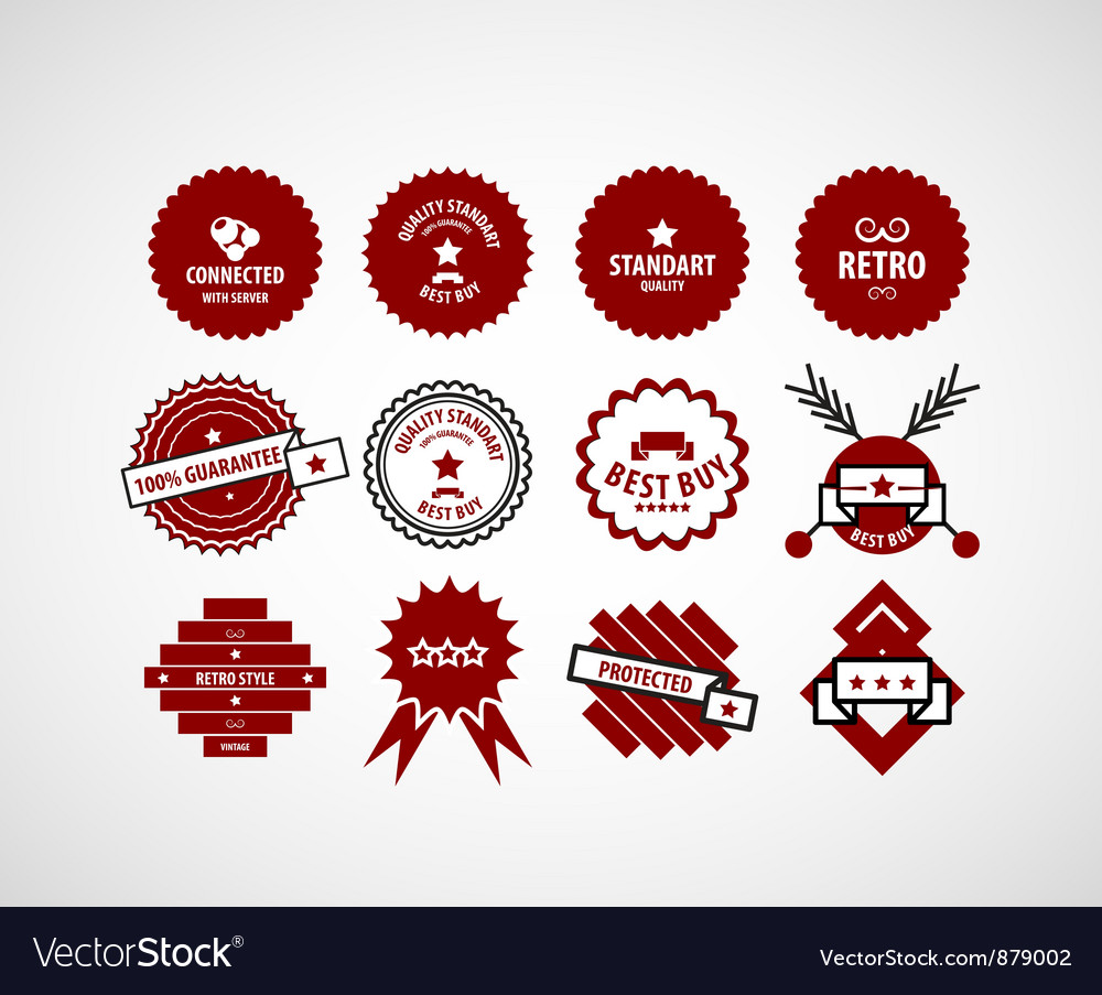 Red label set vector | Price: 1 Credit (USD $1)