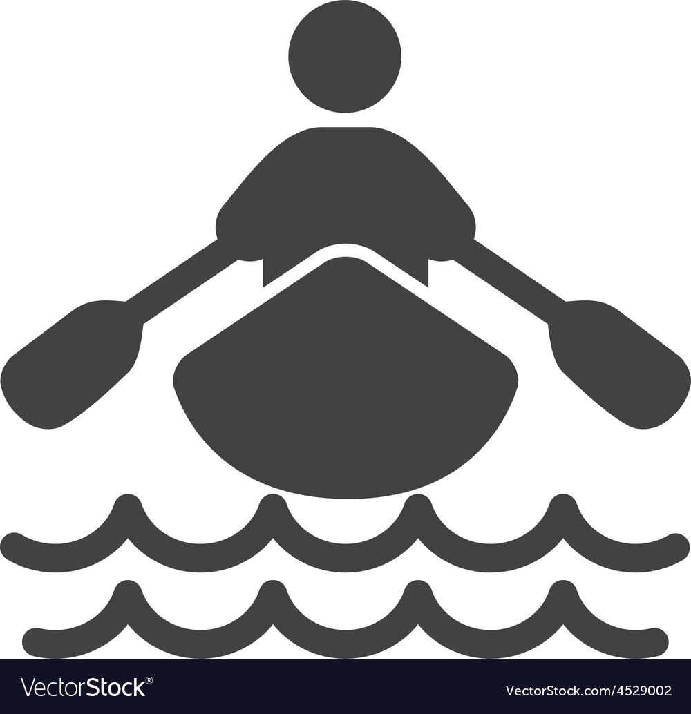 Rowing person vector | Price: 1 Credit (USD $1)