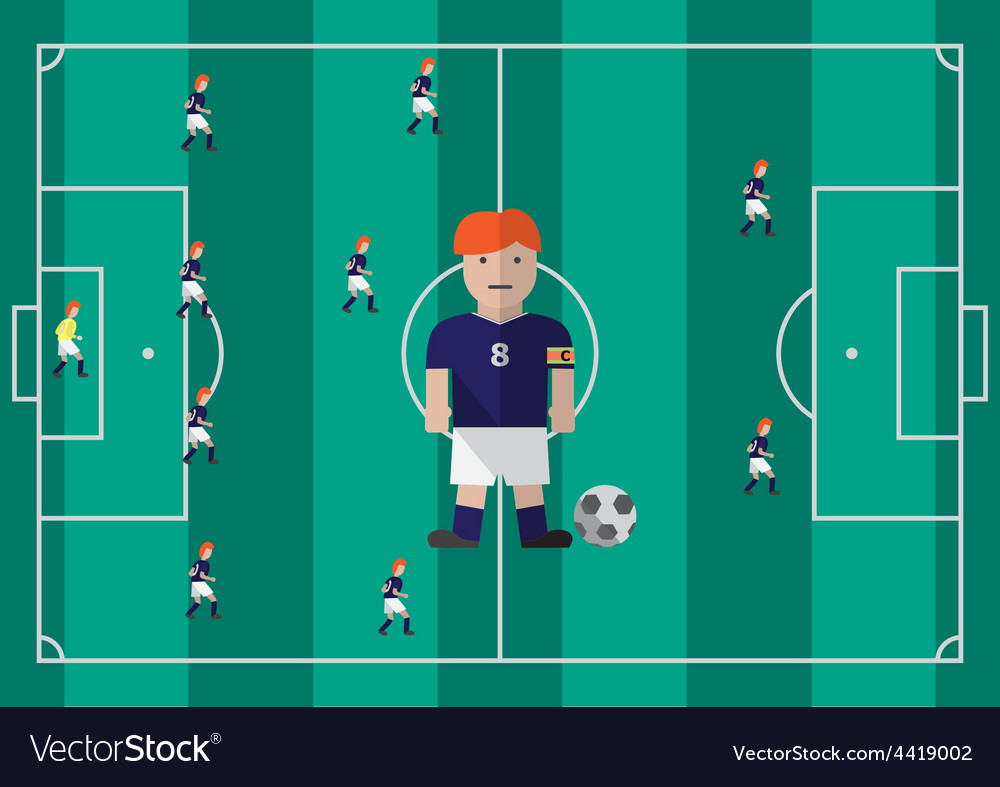 Soccer captain flat graphic vector | Price: 1 Credit (USD $1)