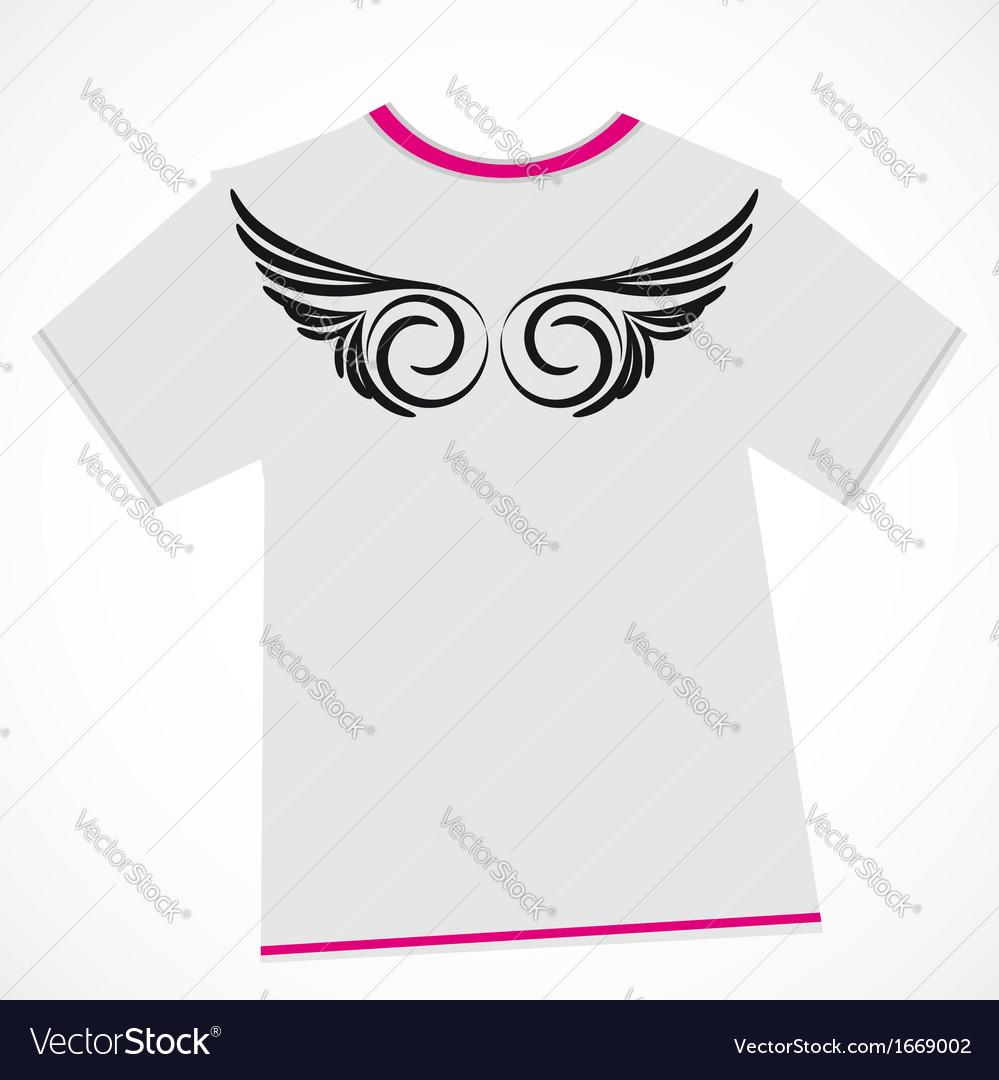 T-shirt design - wings vector | Price: 1 Credit (USD $1)