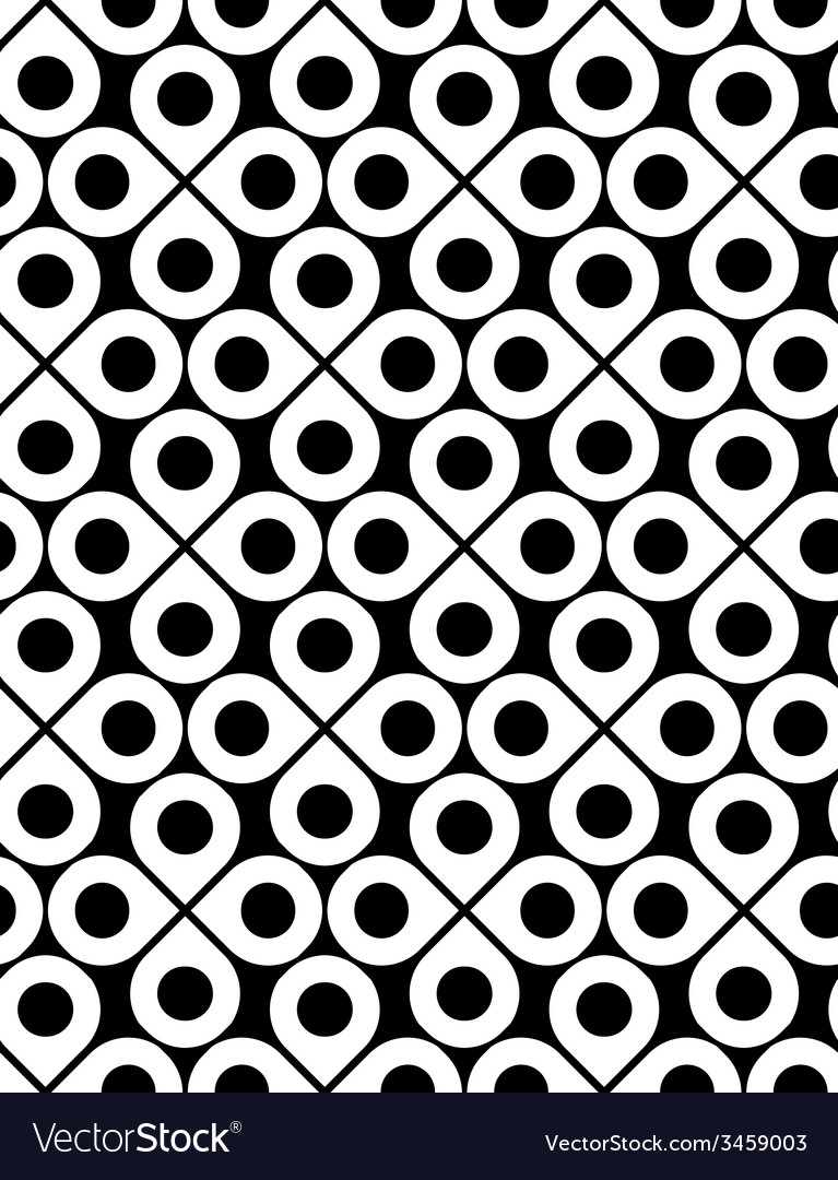 Black and white ornamental seamless pattern with vector | Price: 1 Credit (USD $1)